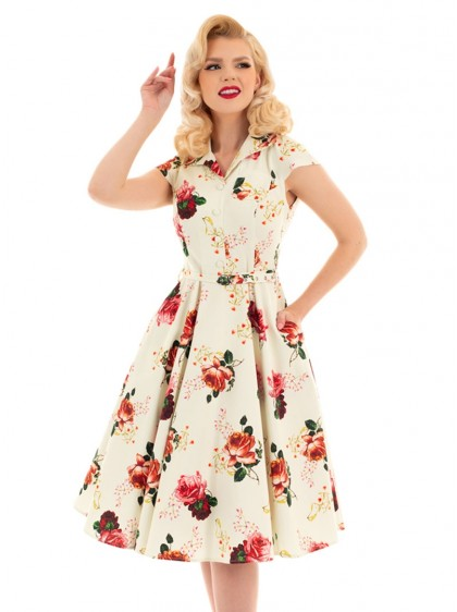 "Robe Vintage Pin-Up Retro HR London ""Delilah Swing"" - rockangehell.com"