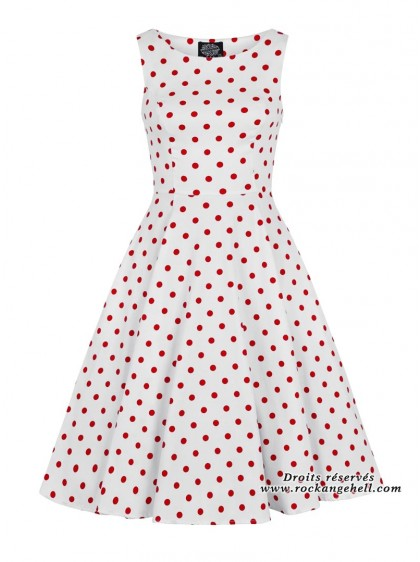 "Robe Rockabilly Retro Pin-Up HR London ""Cindy Red Dots"" - rockangehell.com"