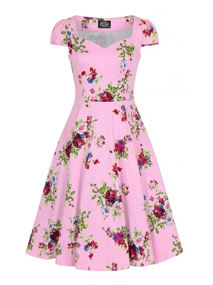 "Robe Retro Rockabilly Pin-Up HR London ""Pink Royal Ballet"" - rockangehell.com"
