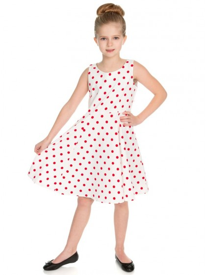 "Robe Enfant Fille Rockabilly Retro Vintage HR London ""Cindy"" - rockangehell.com"
