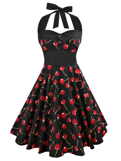 "Robe Retro Rockabilly Vintage Rock Ange'Hell ""Ashley Cherry"""