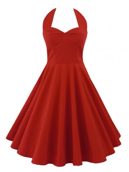 "Robe Rockabilly Gothique Rock Ange'Hell ""Vivien Red"" - rockangehell.com"