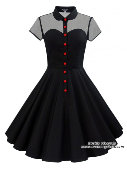 "Robe Retro Rockabilly Vintage Rock Ange'Hell ""Julia"" - rockangehell.com"