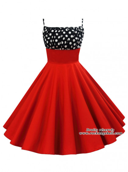 "Robe Rockabilly Pin-Up Vintage Rock Ange'Hell ""Jessica"" - rockangehell.com"