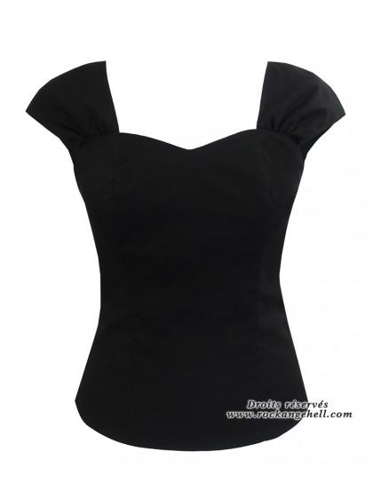 "Tee-shirt Pin-Up Rockabilly Retro Rock Ange'Hell ""Adda Just Black"" - rockangehell.com"