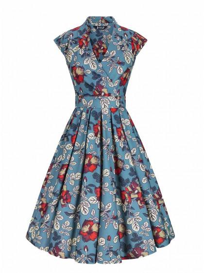 "Robe Vintage Pin-Up Retro Lady Vintage ""Oriental Tapestry Eva"" - rockangehell.com"