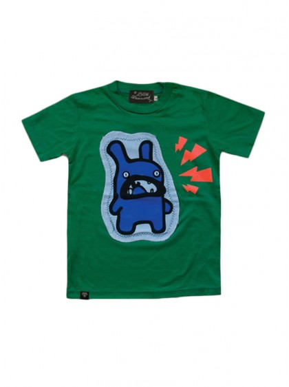 "Tee-shirt vert ENFANT Little Diamond ""Crazy Rabit"""