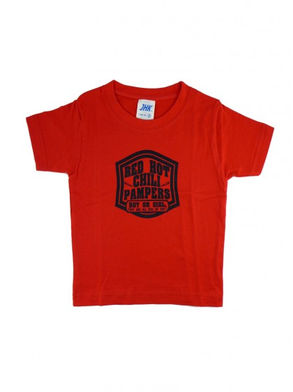 "Tee-shirt rouge rock ENFANT Rock Daddy ""Red Hot Chili Pampers"""