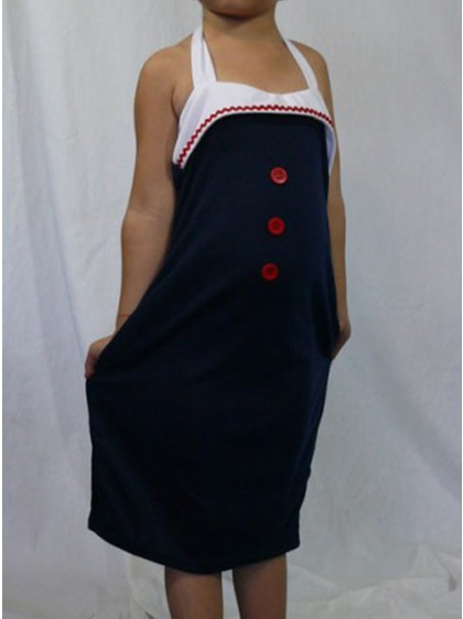 "Robe Enfant Rockabilly Pin-Up Little Diamond ""Little Pin-Up"""