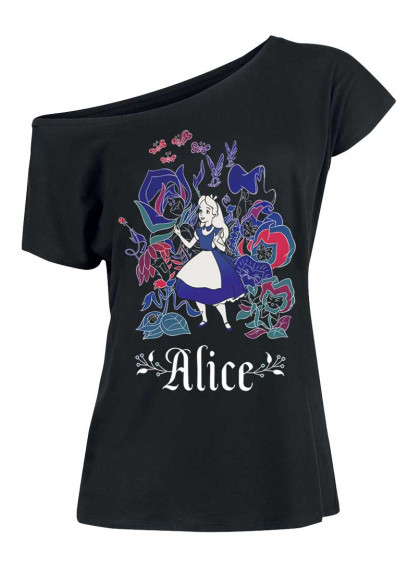 "Tee-Shirt Disney Alice au Pays des Merveilles ""Fairy Tales"" - rockangehell.com"
