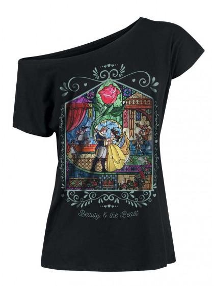 "Tee-Shirt Disney ""Beauty & The Beast Window Girl""- rockangehell.com"