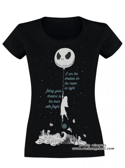 "Tee-Shirt Disney L'Étrange Noël de Monsieur Jack ""Sallys Spiders"" - rockangehell.com"