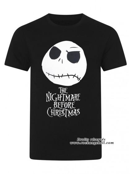 "Tee-Shirt Homme Disney L'Étrange Noël de Monsieur Jack ""Jack Head"" - rockangehell.com"