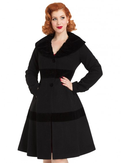 "Manteau Rockabilly Pin-Up Retro Vintage Voodoo Vixen ""Thora Velvet"" - rockangehell.com"