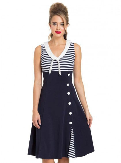 "Robe Marin Rockabilly Pin-Up Voodoo Vixen ""Vera Nautical"" - rockangehell.com"