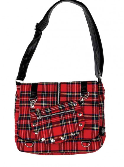 "Sac écossais rouge punk rock Jawbreaker ""Red Tartan"""