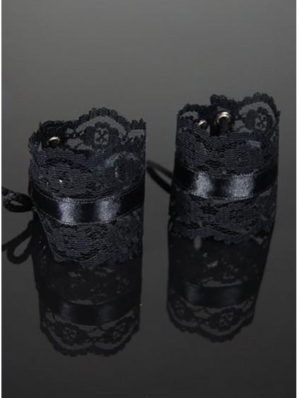 "Bracelets Manchons Gothique Lolita Dark Wear ""Black Net"" - rockangehell.com"