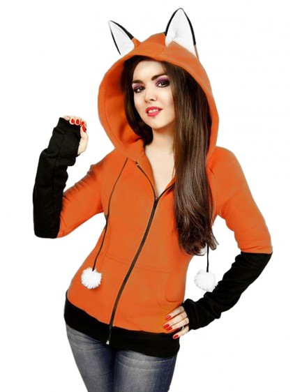 "Sweat Renard Kawaii ""Fox"" - rockangehell.com"
