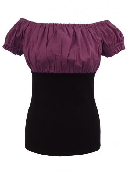 Tee-shirt Top Gothique Gypsy Aubergine - rockangehell.com