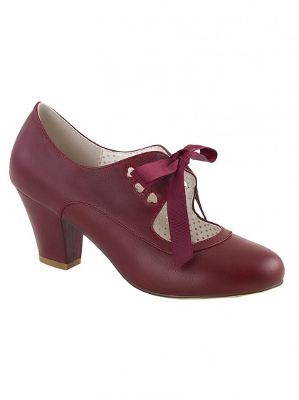 "Chaussures Escarpins Vintage Rockabilly Pin-Up Couture ""Wiggle Red"" - rockangehell.com"