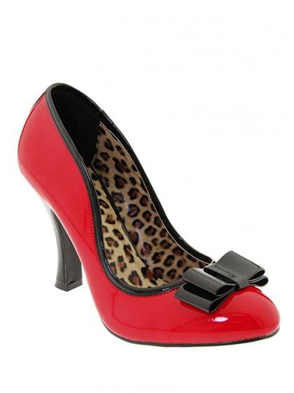 """Chaussures Escarpins Rockabilly Années 50 Pin Up Couture """"Smitten Bow"""" - rockangehell.com"""