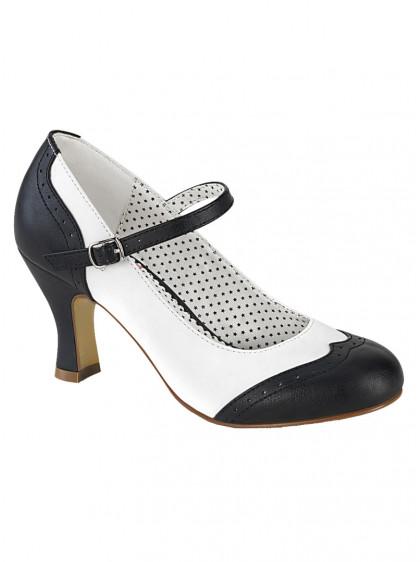 "Chaussures Escarpins Vintage Rockabilly Pin Up Couture ""Flapper 25"" - rockangehell.com"
