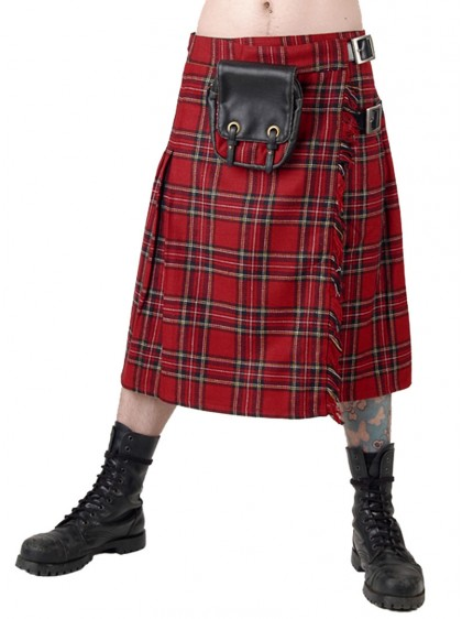 "Kilt Ecossais Homme Queen of Darkness ""Red Tartan"""