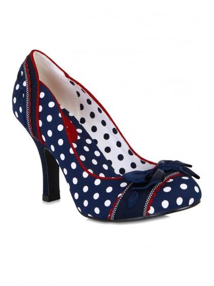"Chaussures Escarpins Années 50 Pin-Up Rockabilly Ruby Shoo ""Amy Blue"" - rockangehell.com"