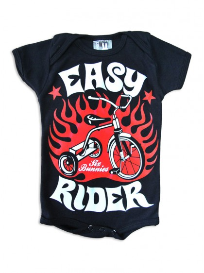 "Body Bébé Rock Six Bunnies ""Easy Rider"""