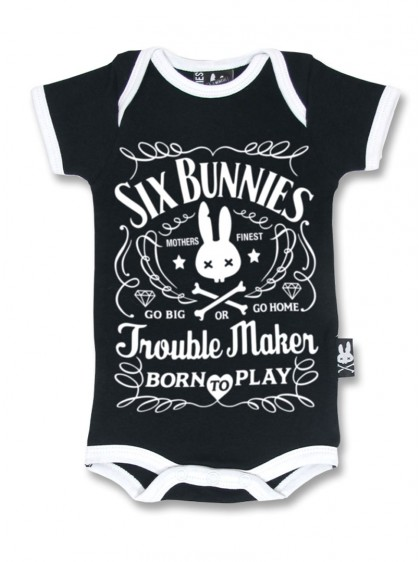 "Body Bébé Rock Six Bunnies ""Troublemaker"""