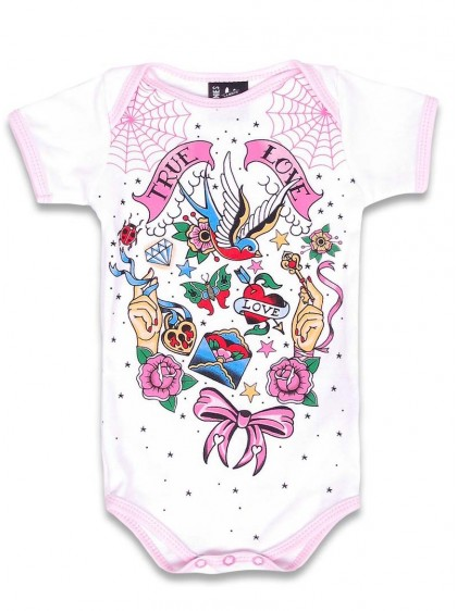 "Body Bébé Rockabilly Six Bunnies ""True Love"" - rockangehell.com"