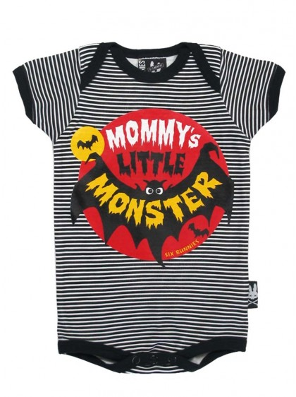 "Body Bébé Rock Gothique Six Bunnies ""Mommy's Little Monster"" - rockangehell.com"