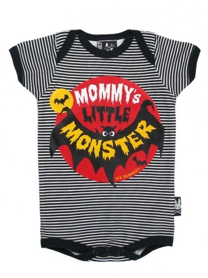 """Body Bébé Rock Gothique Six Bunnies """"Mommy's Little Monster"""" - rockangehell.com"""