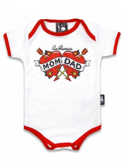"Body Bébé Rock Rockabilly Six Bunnies ""Mom And Dad"" - rockangehell.com"