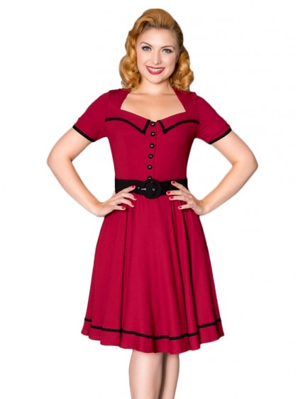 "Robe Rockabilly Pin-Up Retro Sheen ""Yvette"" - rockangehell.com"