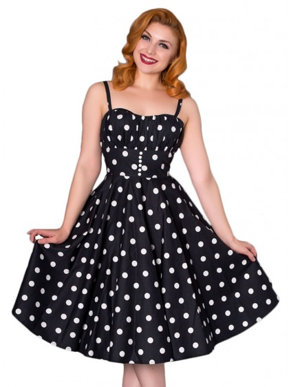 "Robe Rockabilly Pin-Up Retro Sheen ""Bonnie"" - rockangehell.com"
