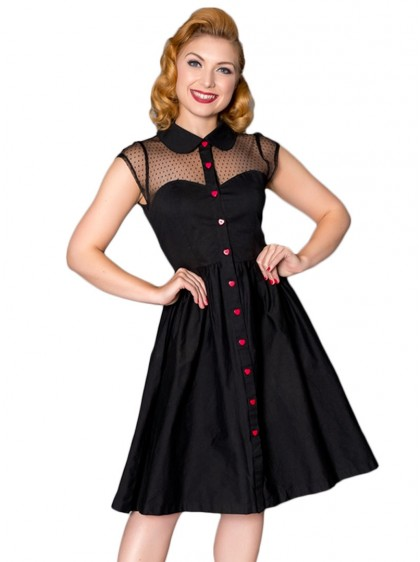 "Robe Rockabilly Pin-Up Années 50 Sheen ""Heart"" - rockangehell.com"