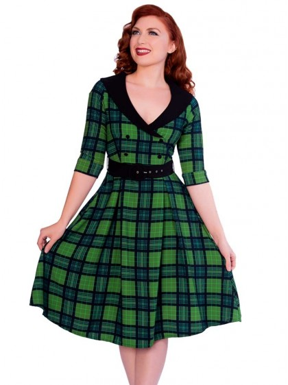 "Robe Vintage Pin-Up Rockabilly Sheen ""Raakel"" - rockangehell.com"
