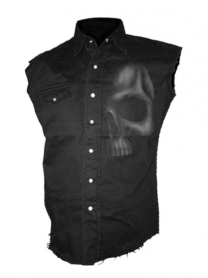 "Chemise Rock sans manches Spiral ""Shadow Skull"""