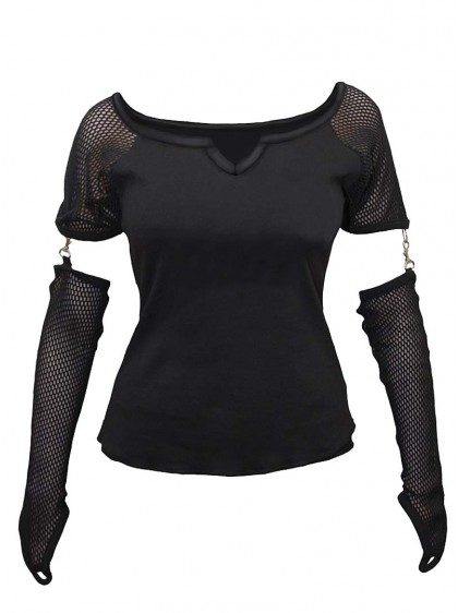 "Top gothique Spiral ""Black Net"""