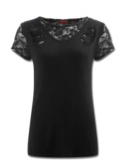 """Tee-Shirt Gothique Dark Wear Spiral """"Gothic Elegance"""" - rockangehell.com"""
