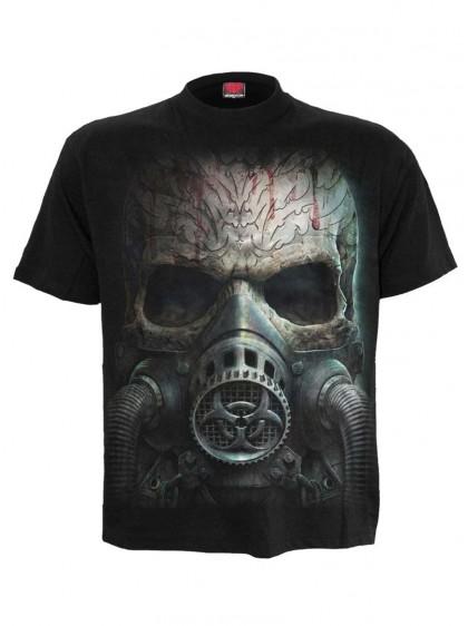 "Tee-shirt homme Rock Gothique Spiral ""Bio Skull"" - rockangehell.com"