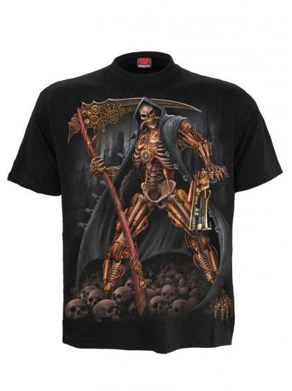 """Tee-shirt homme Rock Gothique Steampunk Spiral """"Steampunk Skeleton"""" - rockangehell.com"""