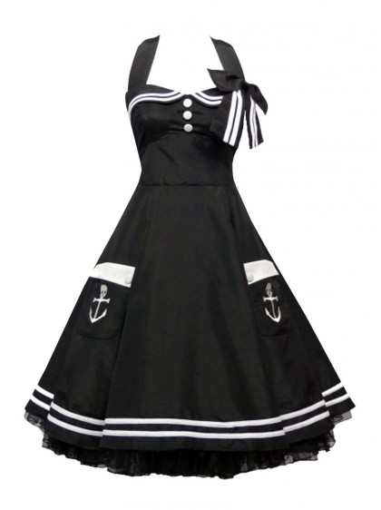 "Robe Sailor Marin Pin-Up Rockabilly Retro ""Abbie"" - rockangehell.com"