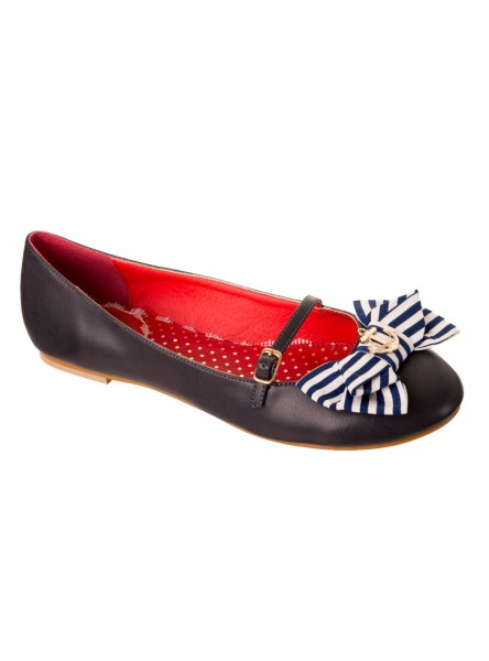 "Chaussures Ballerines Rockabilly Vintage Retro Banned ""Marry Jane"""