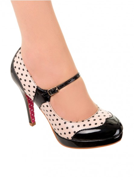 """Chaussures Escarpins Pin-Up Vintage Rockabilly Banned """"Mary Jane"""" - rockangehell.com"""