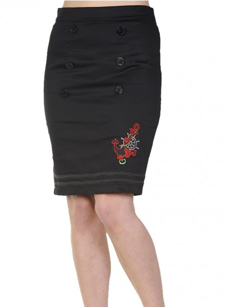 """Jupe Pin-Up Rockabilly Rétro Banned """"Anchor"""""""