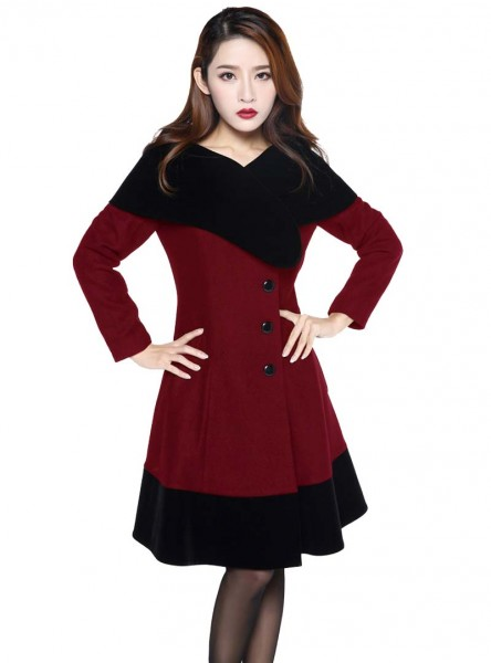 "Manteau Pin-Up Rockabilly Retro Vintage Lolita Chicstar ""Alexia"" - rockangehell.com"