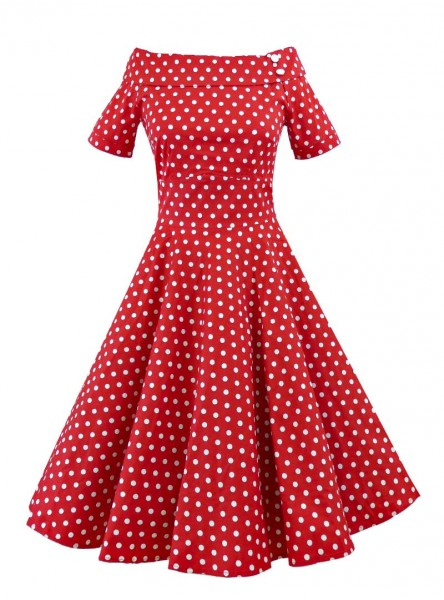 "Robe Pin-Up Rockabilly Années 50 Dolly And Dotty ""Darlene"" - rockangehell.com"
