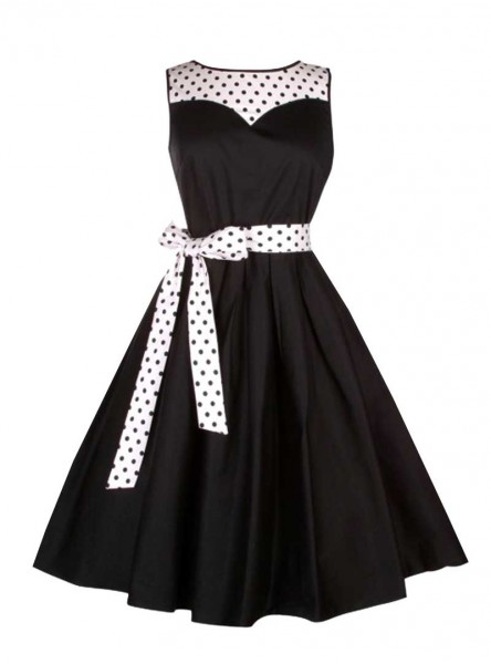 "Robe mi-longue Pin-Up Vintage Rockabilly Dolly And Dotty ""Elizabeth"" - rockangehell.com"